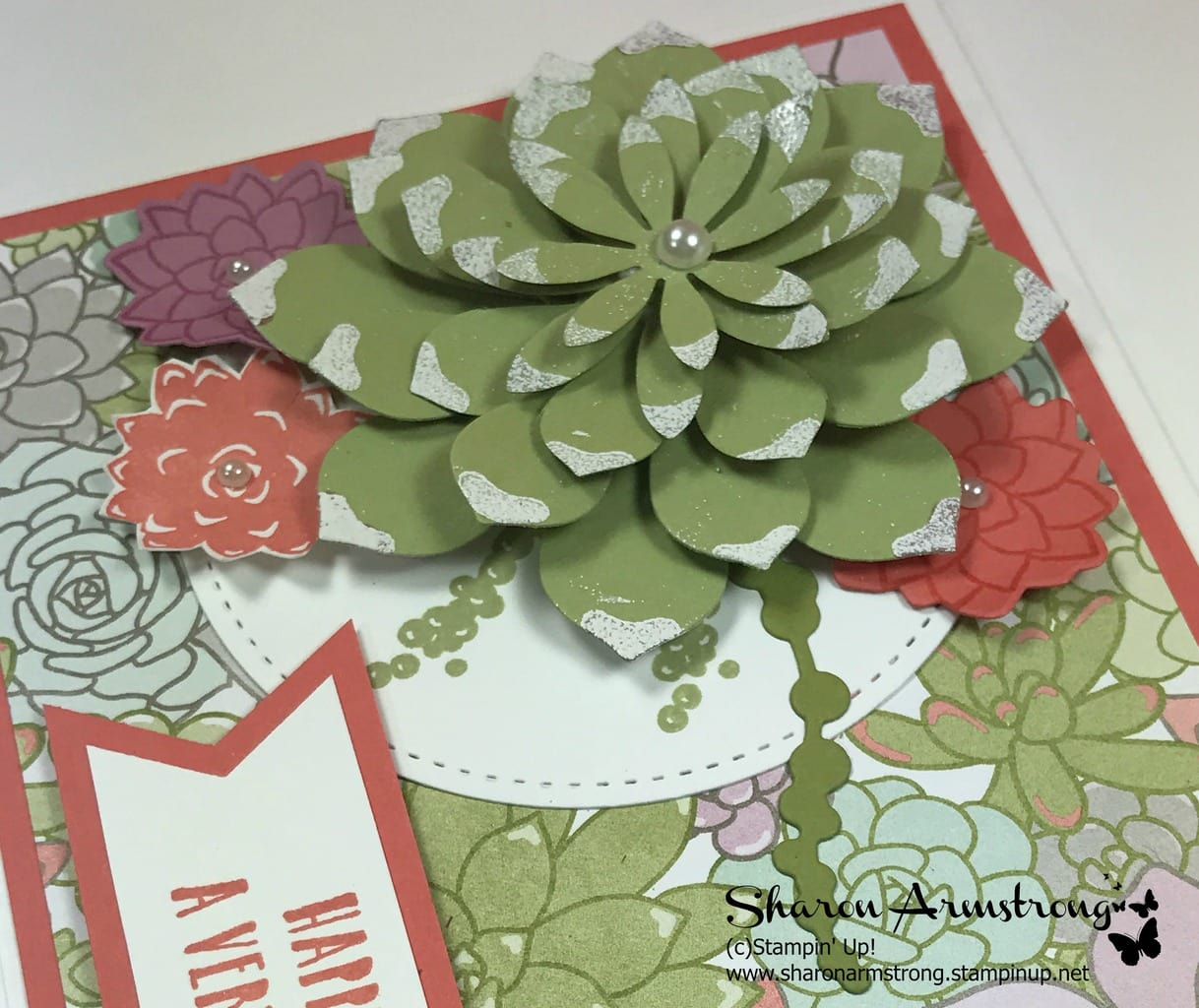 Oh So Succulents Happy Birthday Tx Stampin Sharon