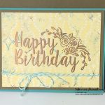 Big on Birthdays meets Copper Embossing Powder