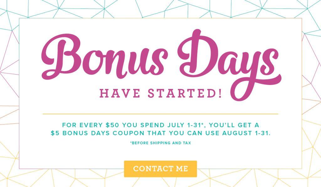 Stampin' Up! Bonus Days are Back!