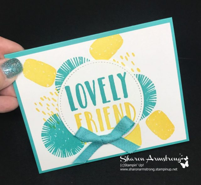 Lovely Friend Makes An Easy Card