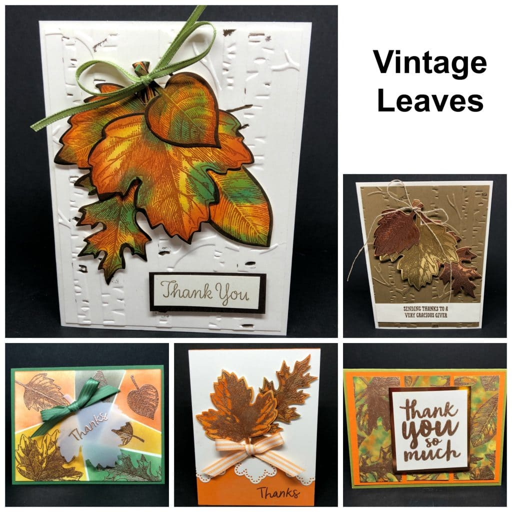 Vintage Leaves Thankful Thoughts Online Card Class Tx