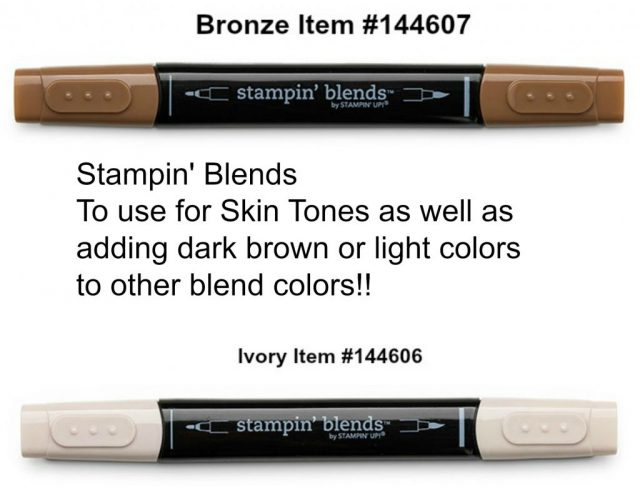 Stampin' Blends Bronze and Ivory for Skin Tones