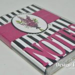 Lots of Lavender Note Pad Holder and Pen