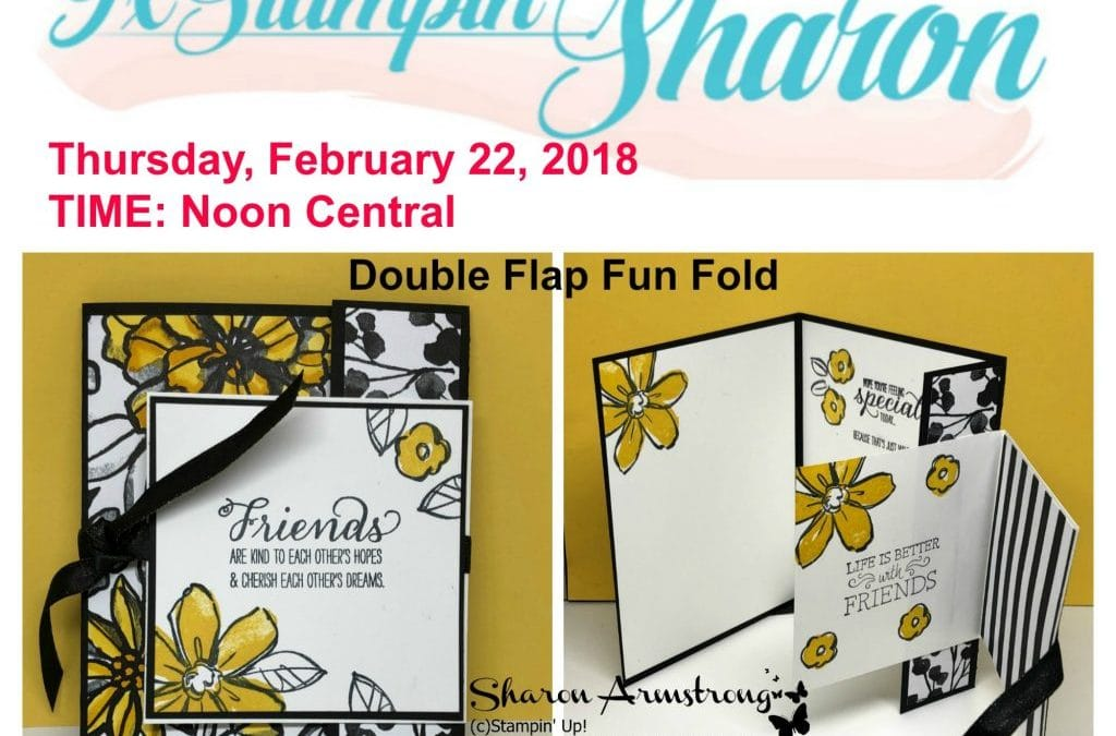 Facebook Live Today Double Flap Fun Fold