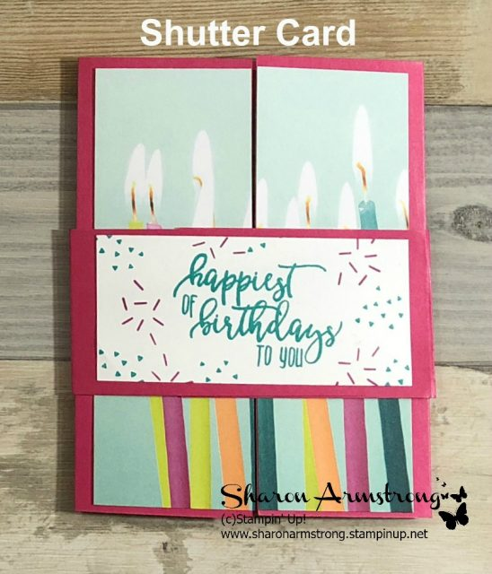 Shutter card picture perfect birthday tx stampin sharon shutter card picture perfect birthday bookmarktalkfo Gallery