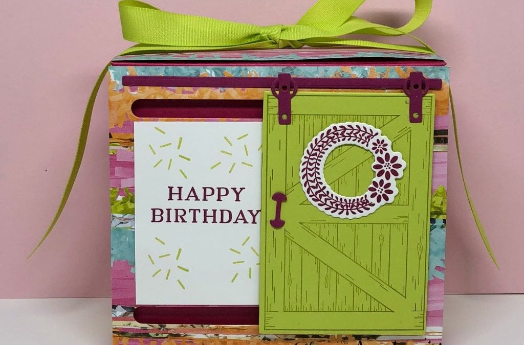 Barn Door Birthday Box Card