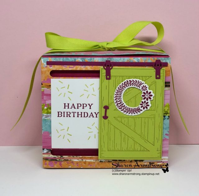 Barn Door Birthday Box Card
