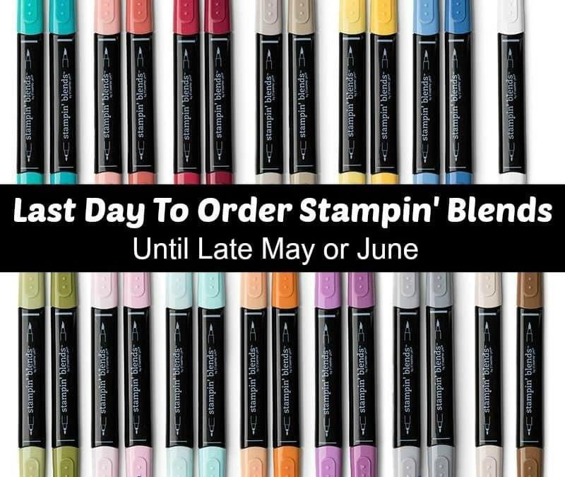 Stampin' Blends Important Information