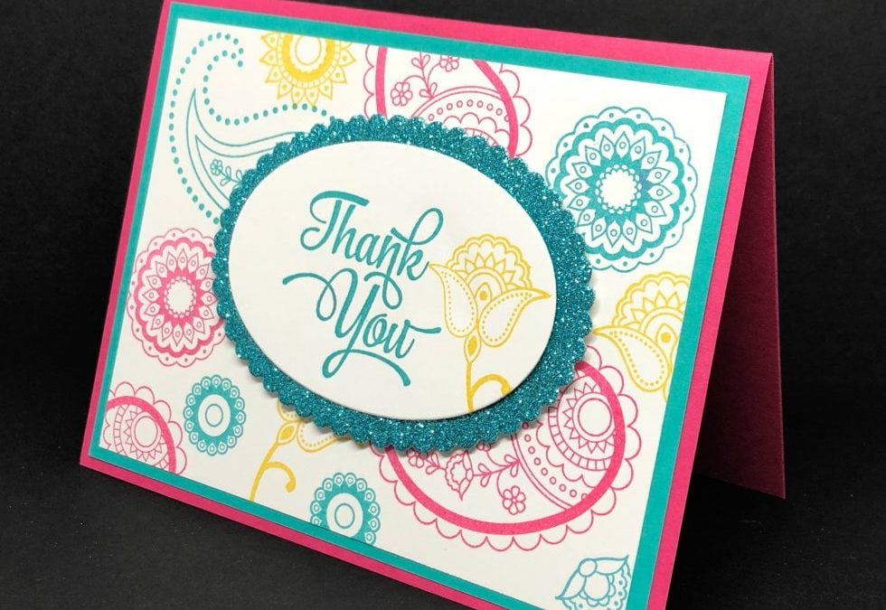 Paisley and Posies Thank You Card