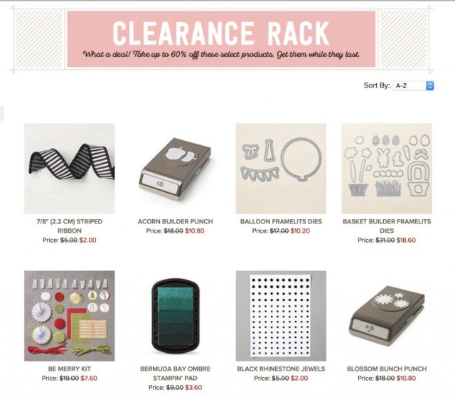 Stampin' Up! Clearance 2018