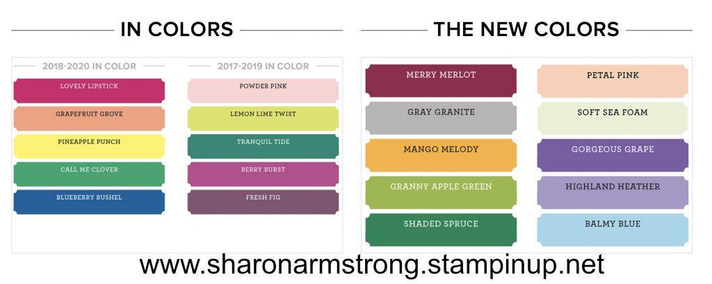 New Stampin Up Colors And New Style Ink Pad Tx Stampin Sharon