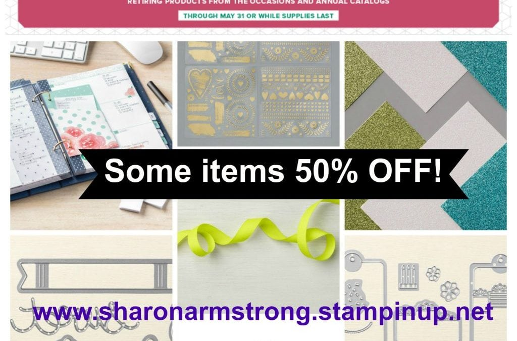 Stampin' Up! discounts retiring items