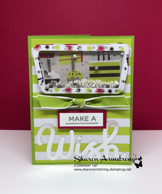 Easy Birthday Shaker Card using Broadway Birthday by Stampin' Up!