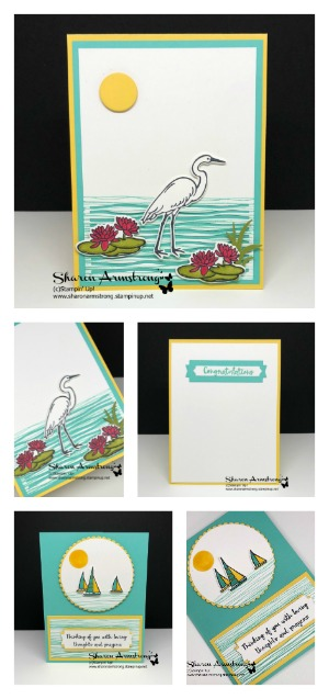 lilypad lake stampin up Card tutorial