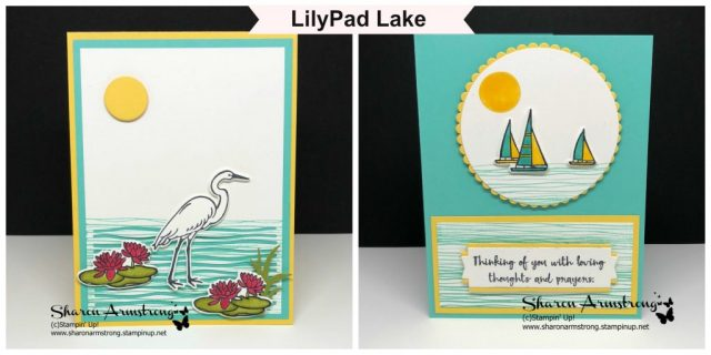 2 Card Designs with the New Lilypad Lake by Stampin' Up!
