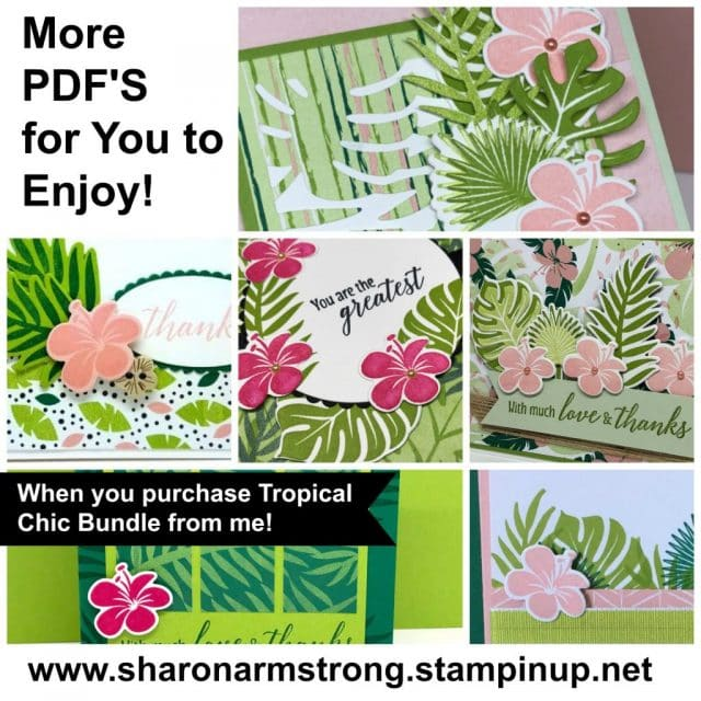 easy handmade cards with Tropical Chic Bundle