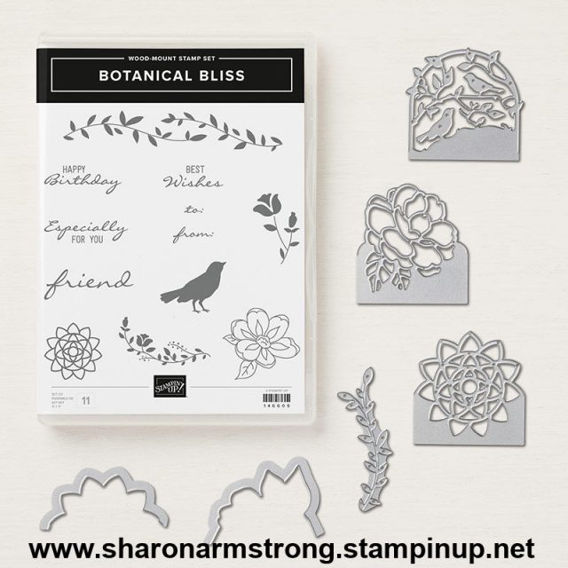 Stampin Up Botanical Bliss tutorial with Sharon Armstrong