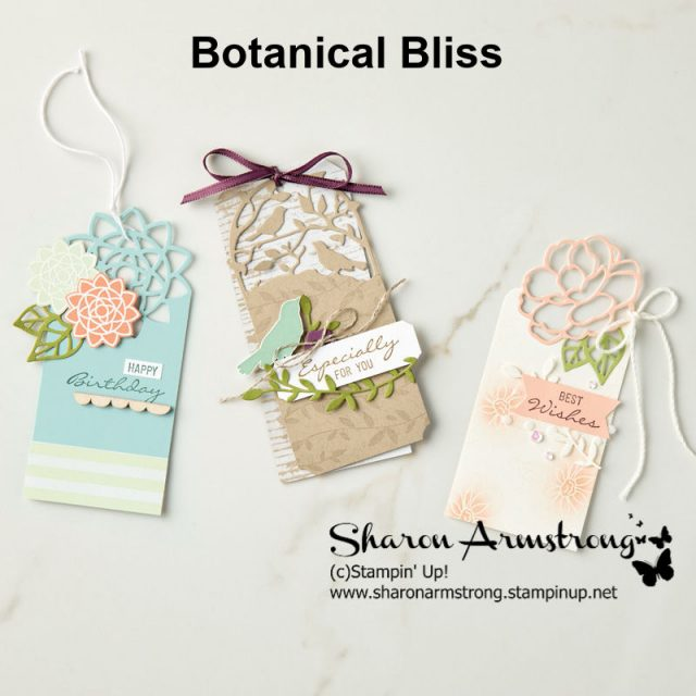 Bookmarks with Botanical Bliss Stampin Up bundle