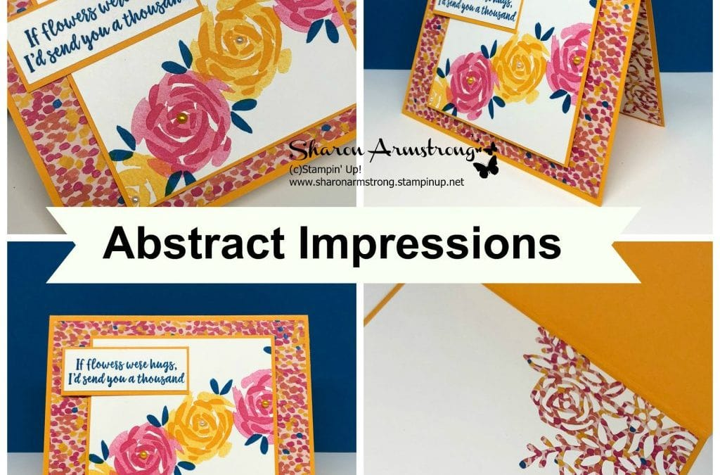 Card Making Kit with Abstract Impressions by Stampin' Up!
