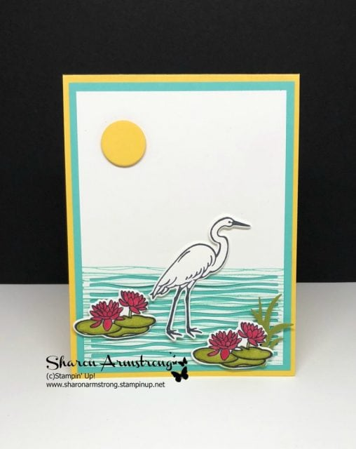 Stampin up lilypad lake card design ideas