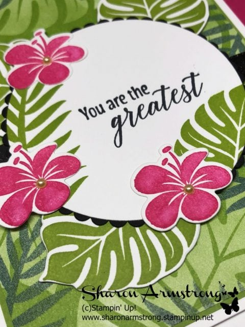 quick and easy tropical chic card