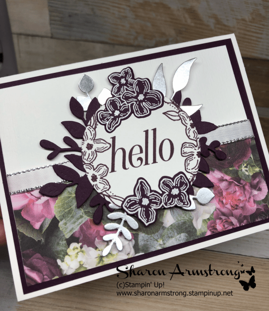 Stampin Up Floral Frames card by Sharon Armstrong with TxStampin