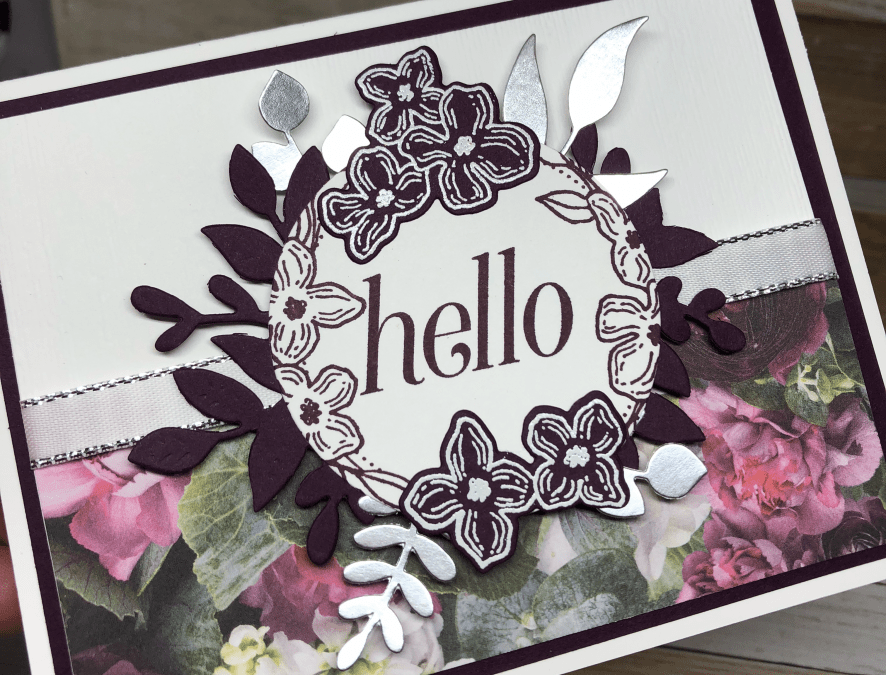 Die Cutting and Embossing a Floral Card | Floral Frames Swap