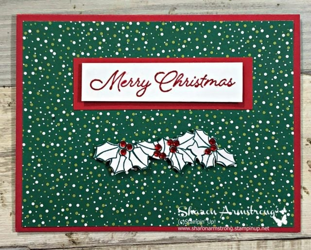blended seasons card tutorial by Sharon Armstrong
