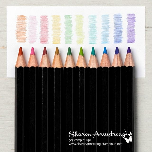 Stampin Up Watercolor Pencils Sharon Armstrong