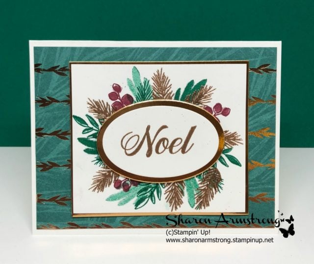 Peaceful Noel Holiday Card by Sharon Armstrong, TxStampin