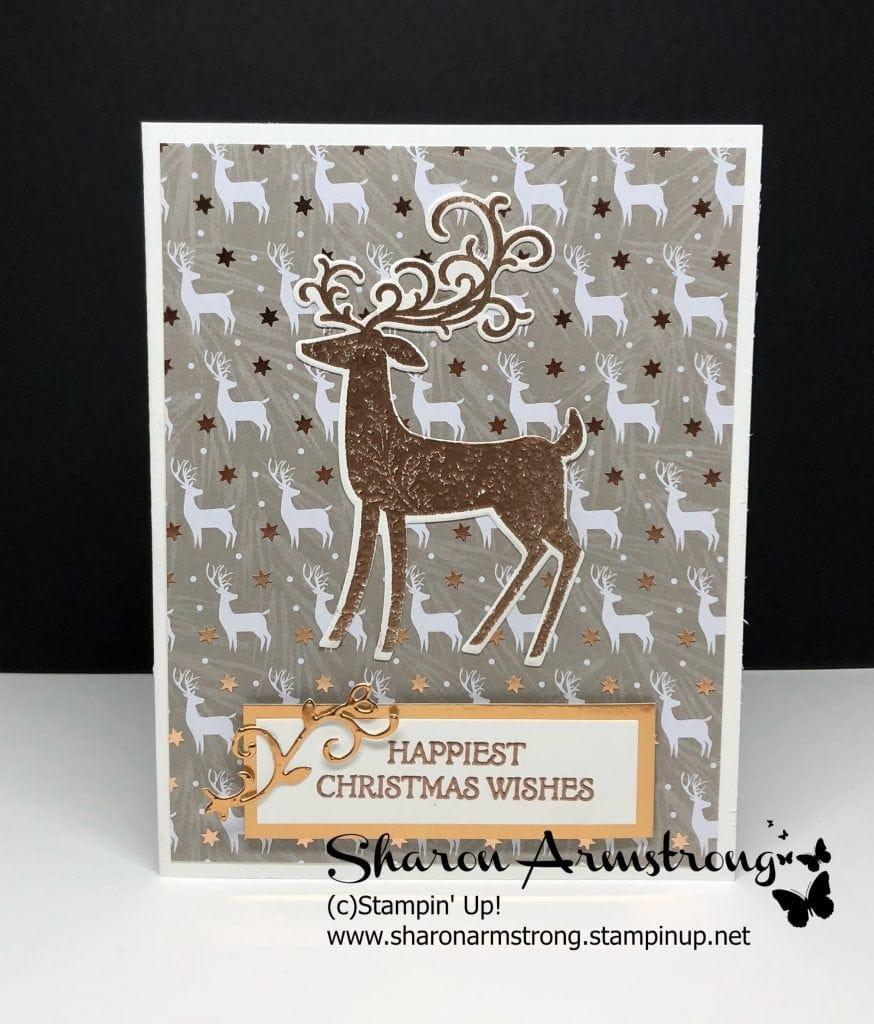 Easy Copper Embossed Christmas Card: Dashing Deer Bundle