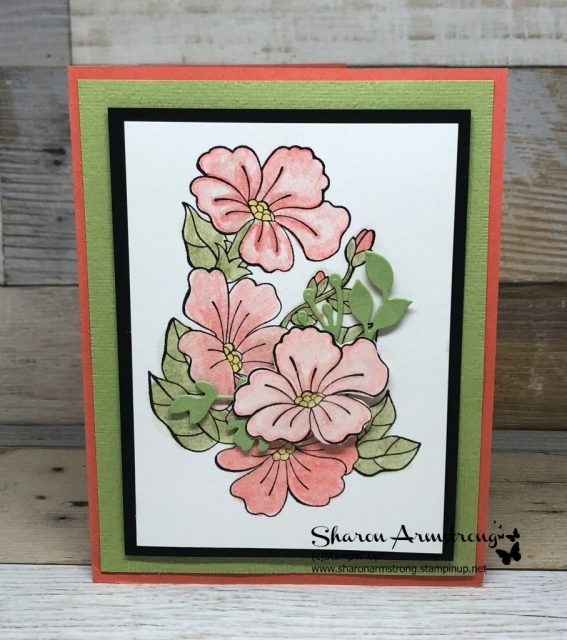 Floral Color Your Season handmade card