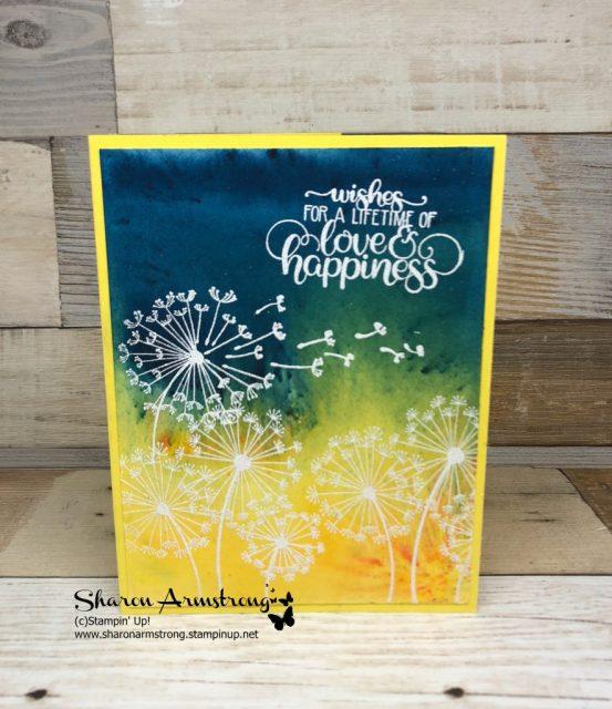 Brusho Dandelion Wishes cardmaking tutorial