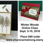 Winter Woods Online Card Class