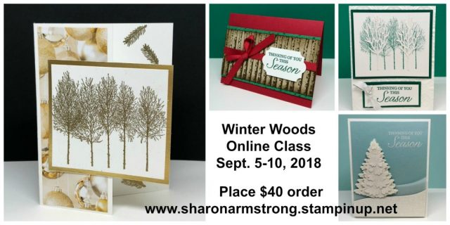 Online Card Kit: Winter Woods by Sharon Armstrong TxStampin