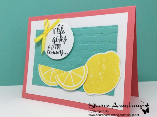 Quick and easy card by Sharon Armstrong with txstampin
