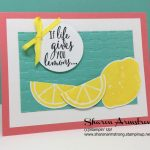 Quick and Easy Card Using Lemon Zest by Stampin' Up!