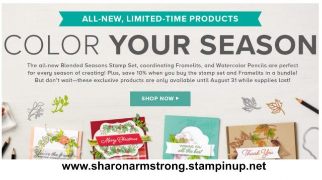 Stampin Up Color your season with Sharon Armstrong
