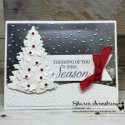 Die Cut Tips Plus New Holiday Card Using Winter Woods Bundle