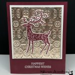 Dashing Deer Homemade Christmas Card
