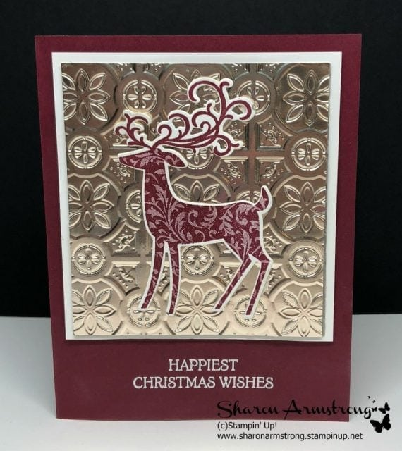 Lots of Homemade Christmas Card Ideas with Dashing Deer Stampin' Up Set by Sharon Armstrong, TxStampin
