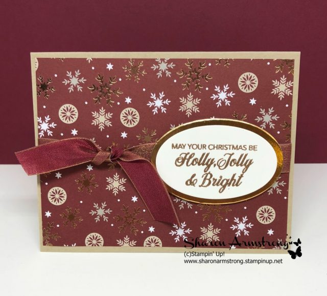 Fancy DIY Christmas Card Quick and Easy with Sharon Armstrong. Video Tutorial