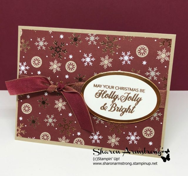 Christmas Card Ideas; Video Tutorials with Sharon Armstrong