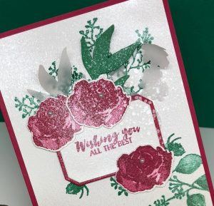 Floral Greeting Card made with First Frost. #Christmascards #cardmaking #greetingcards #stampinupcards #sharonarmstrong #txstampin