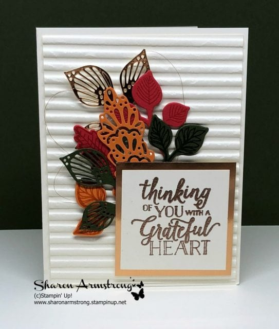Video Tutorial! Follow along and make this Falling for Leaves card. I offer lots of tips and step by step instructions. Sharon Armstrong, TxStampin Sharon