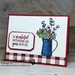 Card Making: Buffalo Check Meets Country Home
