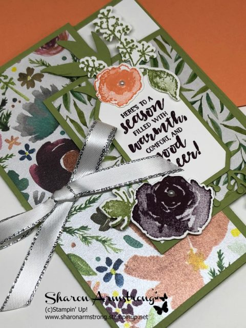Fun Fold Card with Video tutorial by Sharon Armstrong, TxStampin Sharon. Let me show you how to make this card & while you're visiting my blog look for loads of other handmade cards!! #cardmaking #greetingcards #stampinupcards #christmascards #sharonarmstrong #txstampin