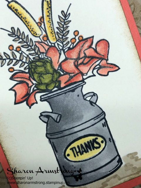 Video Tutorial: Coloring is Therapeutic! Make this new greeting card with Country Home and Stampin' Blends. Sharon Armstrong, Tx Stampin #cardmaking #greetingcards #stampinupcards #sharonarmstrong #txstampin #stampinupprojects