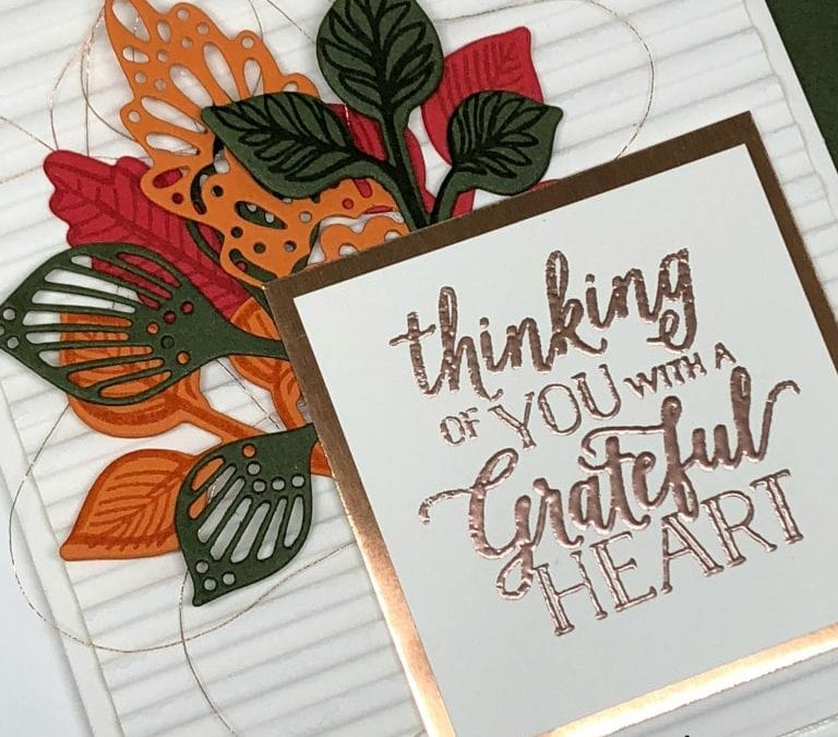 Falling for Leaves Stampin' Up! Card
