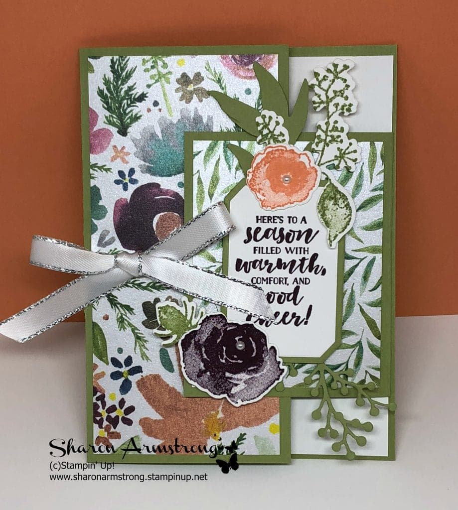 Stampin' Up! First Frost Fun Fold Card